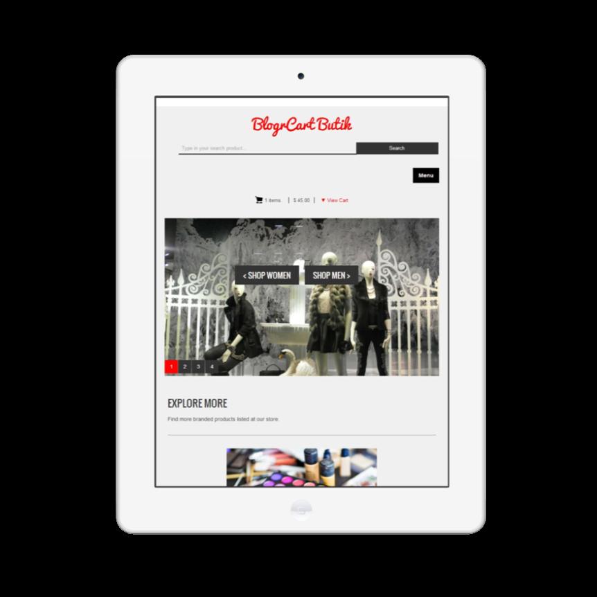 BlogrCart Butik Freemium Blogger Shopping Cart Template Installation Guide
