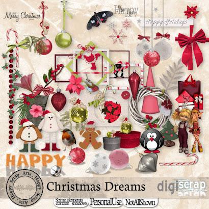 hier de nieuwe kit van Eileen HSA Christmas Dreams .