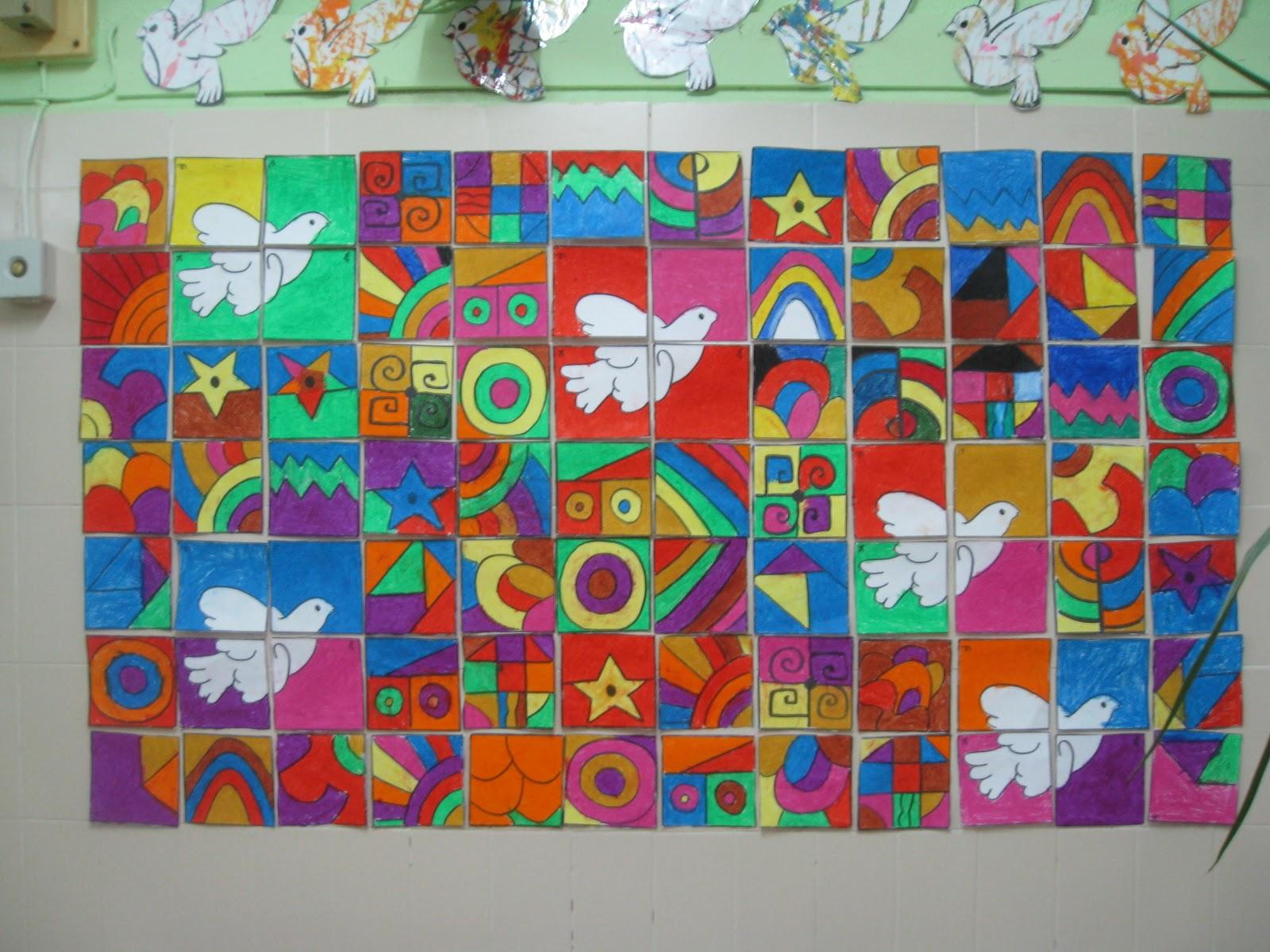 La clase de reli en mi cole murales del d a de la paz for Mural una familia chicana