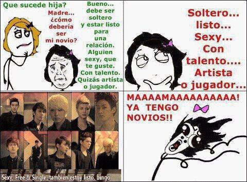 Memes con Super Junior xD Soltero