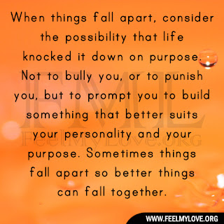 When things fall apart, consider the possibility