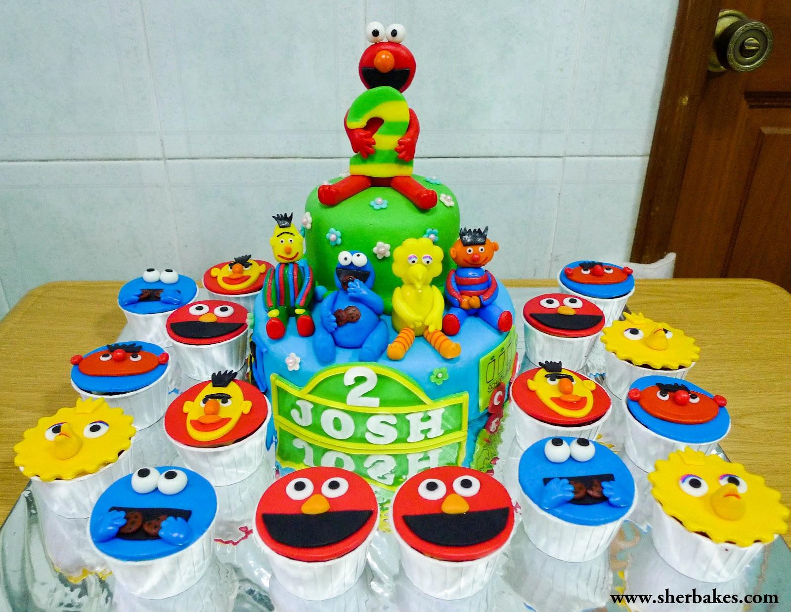 Sherbakes Sesame Street Cake Cupcakes