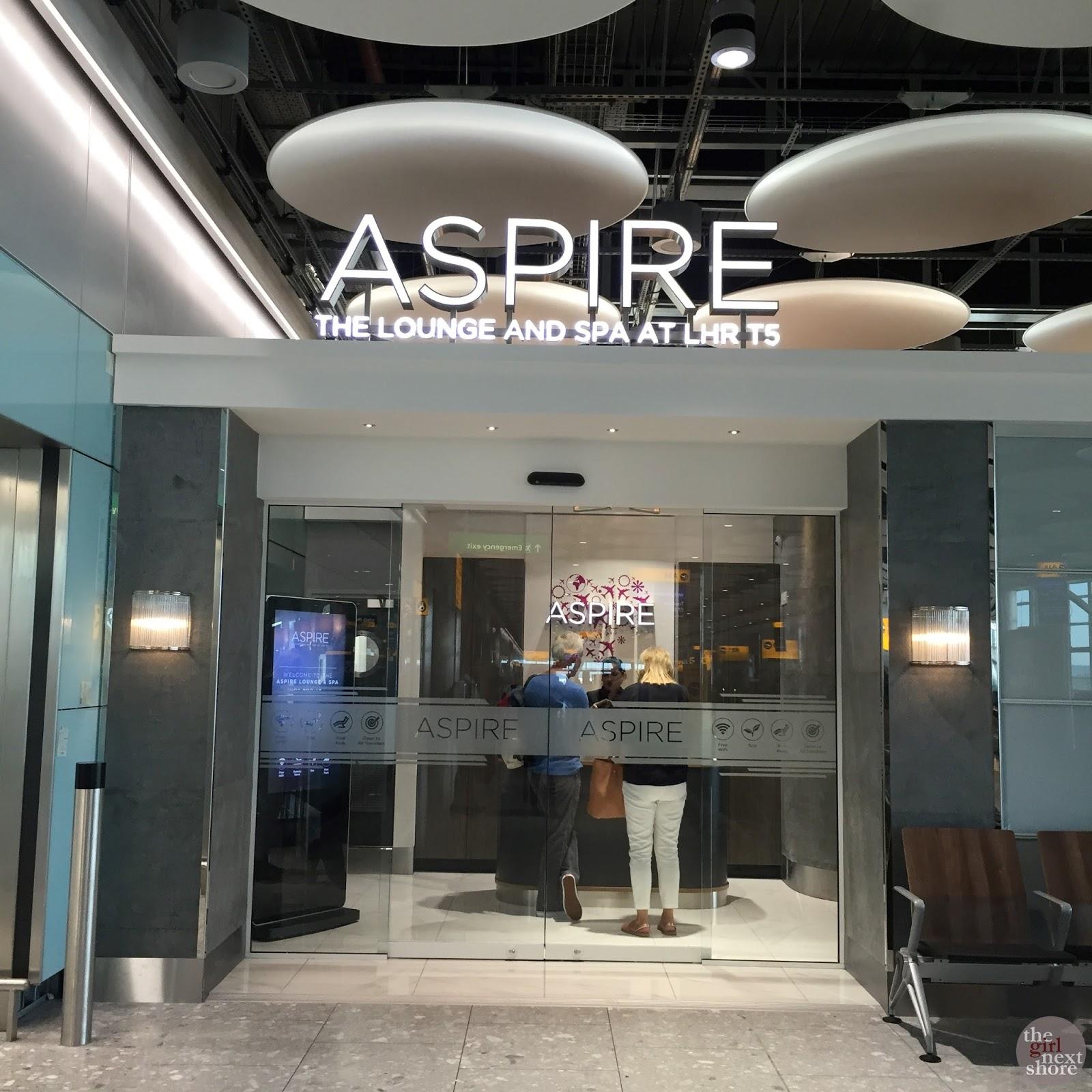 Aspire executive lounge spa london heathrow terminal 5 for Salon lounge