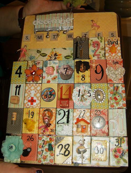 """""""Leslie"""" matchbox calendar"""