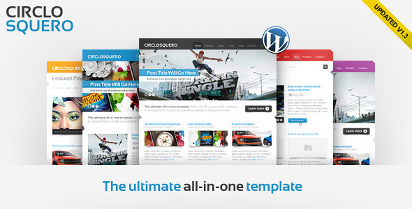Updated version of CircloSquero WordPress Theme Free Download by ThemeForest.