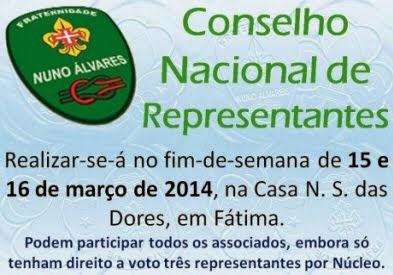 CONSELHO NACIONAL REPRESENTANTES