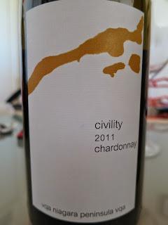 16 Mile Civility Chardonnay 2011 from VQA Niagara Peninsula, Ontario, Canada (89+ pts)