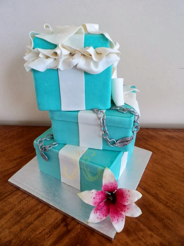 Tiffany Co Tier Birthday Cake