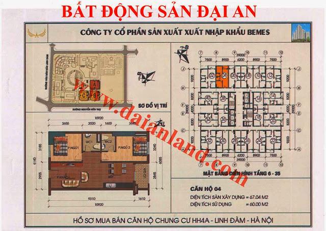Căn hộ số 04 - Chung Cư HH4A Linh Đàm
