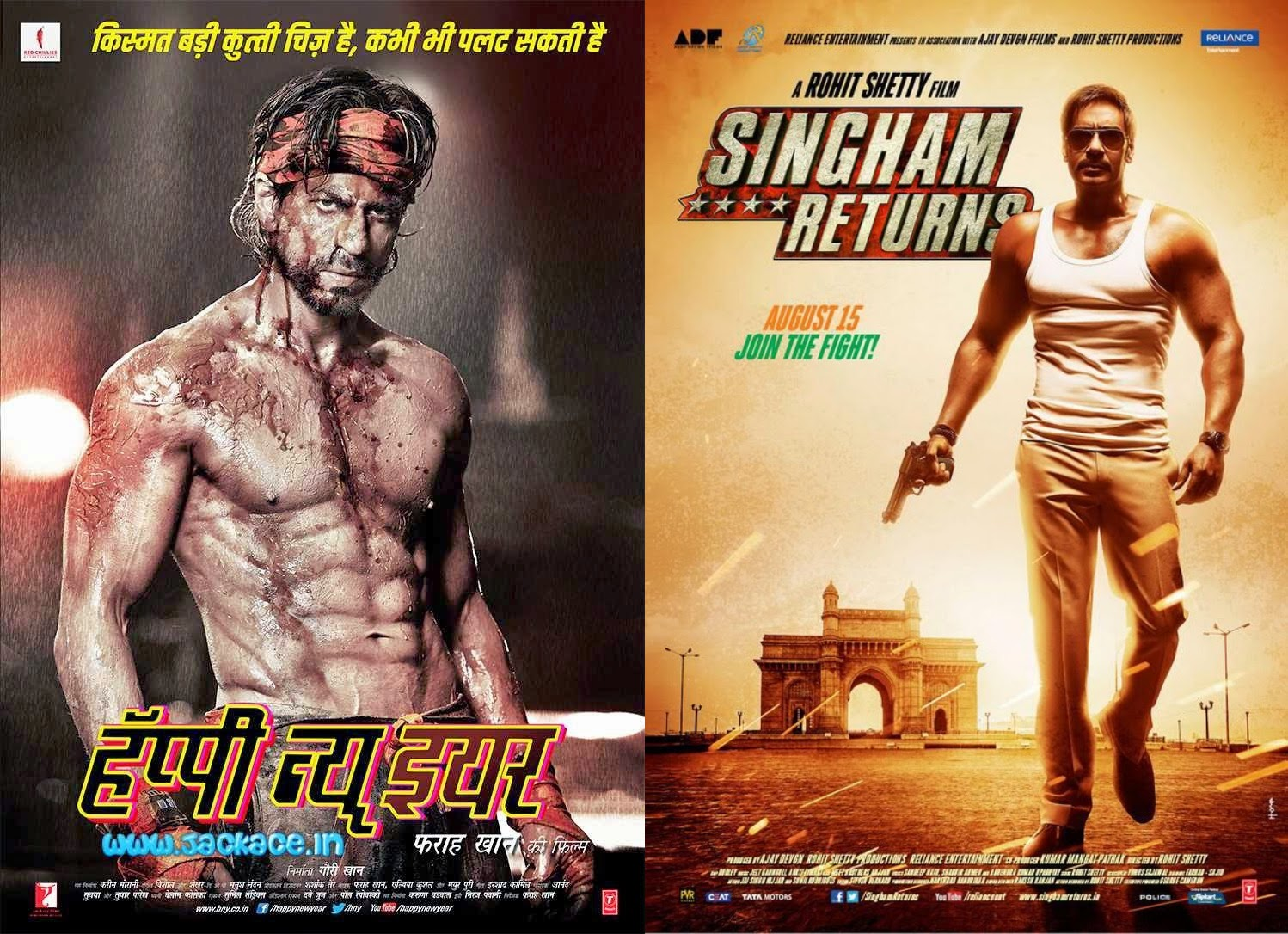 Happy New Year Beat Singham Returns Enter Top 3 Bollywood Movies In 2014