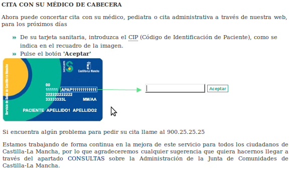 Sescam cita previa share the knownledge - Pedir hora al medico de cabecera por internet ...
