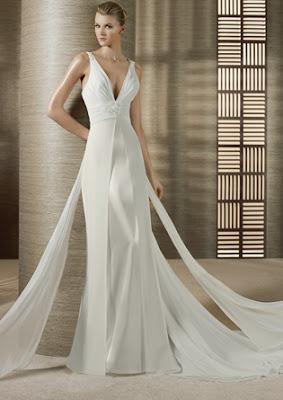 vestido de noiva com decote em V fotos