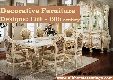 Decorative furniture designs from 17th to 19th centuries(100 pages book), ancient furniture history, antique designs furniture, antique furniture ideas