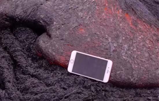 iPhone 6S Dijatuhkan Atas Lava Gunung Berapi