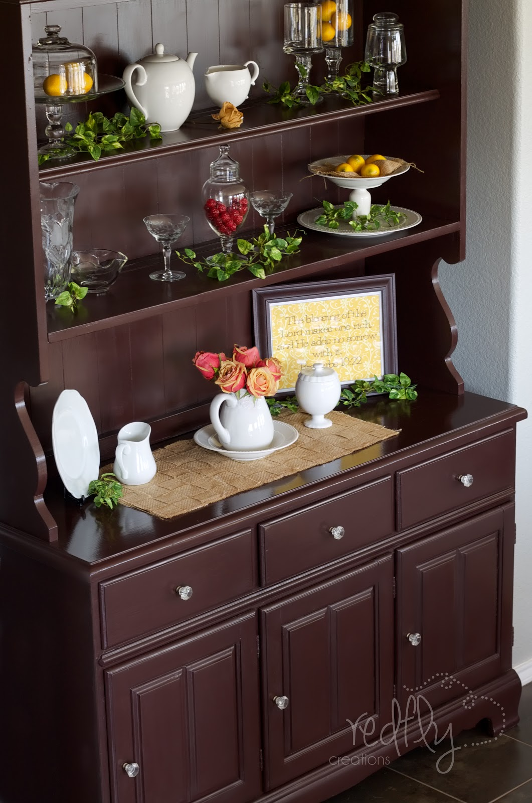 Redfly Creations The Craigslist Hutch Makeover