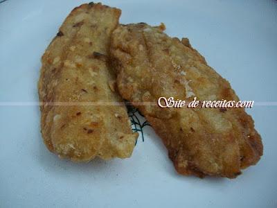 Peixe frito simples