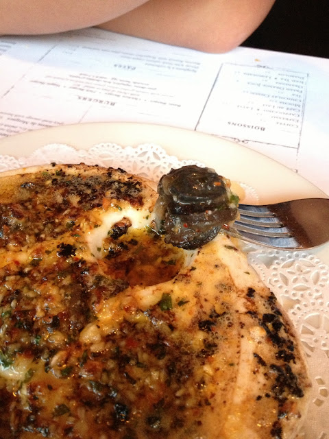 Yum Escargots & garlic butter!
