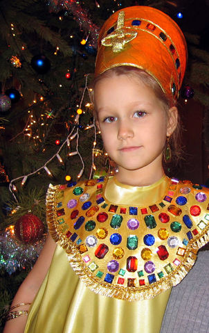 disfraz de Nefertiti para niña