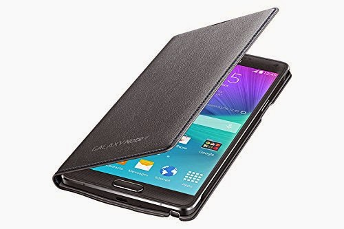 LED Flip Cover (Charcoal Grey Black) for Samsung Galaxy Note 4