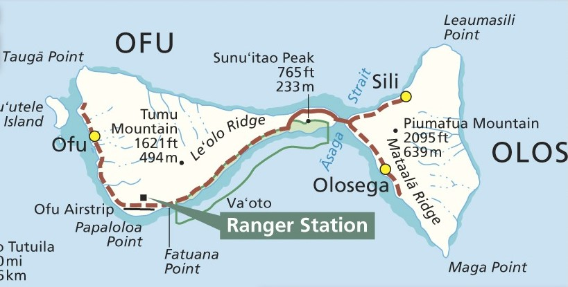 Day Hiking Trails Ofu Island Beachwalk hugs South Pacific