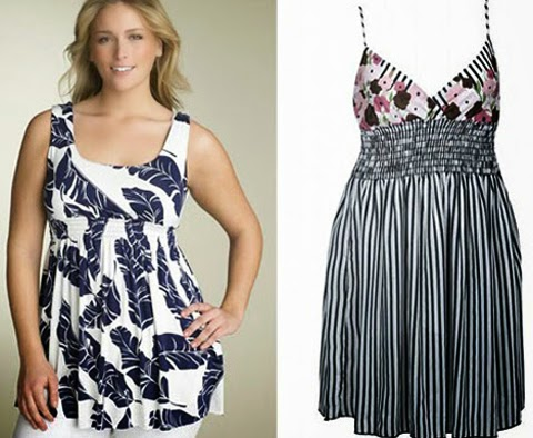 Contoh Desain Model Baju Santai Wanita gemuk Terbaru 2015