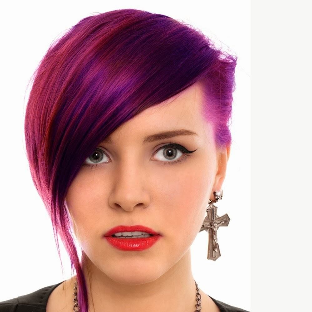 Purple Colors For Short Hair The Haircut Web