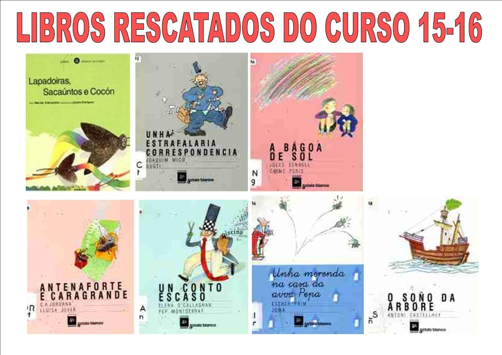 LIBROS RESCATADOS CURSO 15-16
