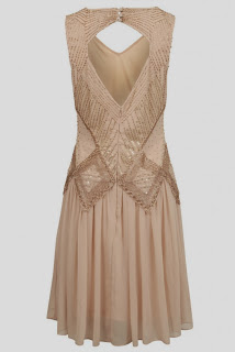 Flapper Style Nude Sequin Dress from Joy