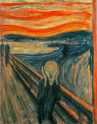 "Famous Painting ""The Scream"" by Edvard Munch,1893"