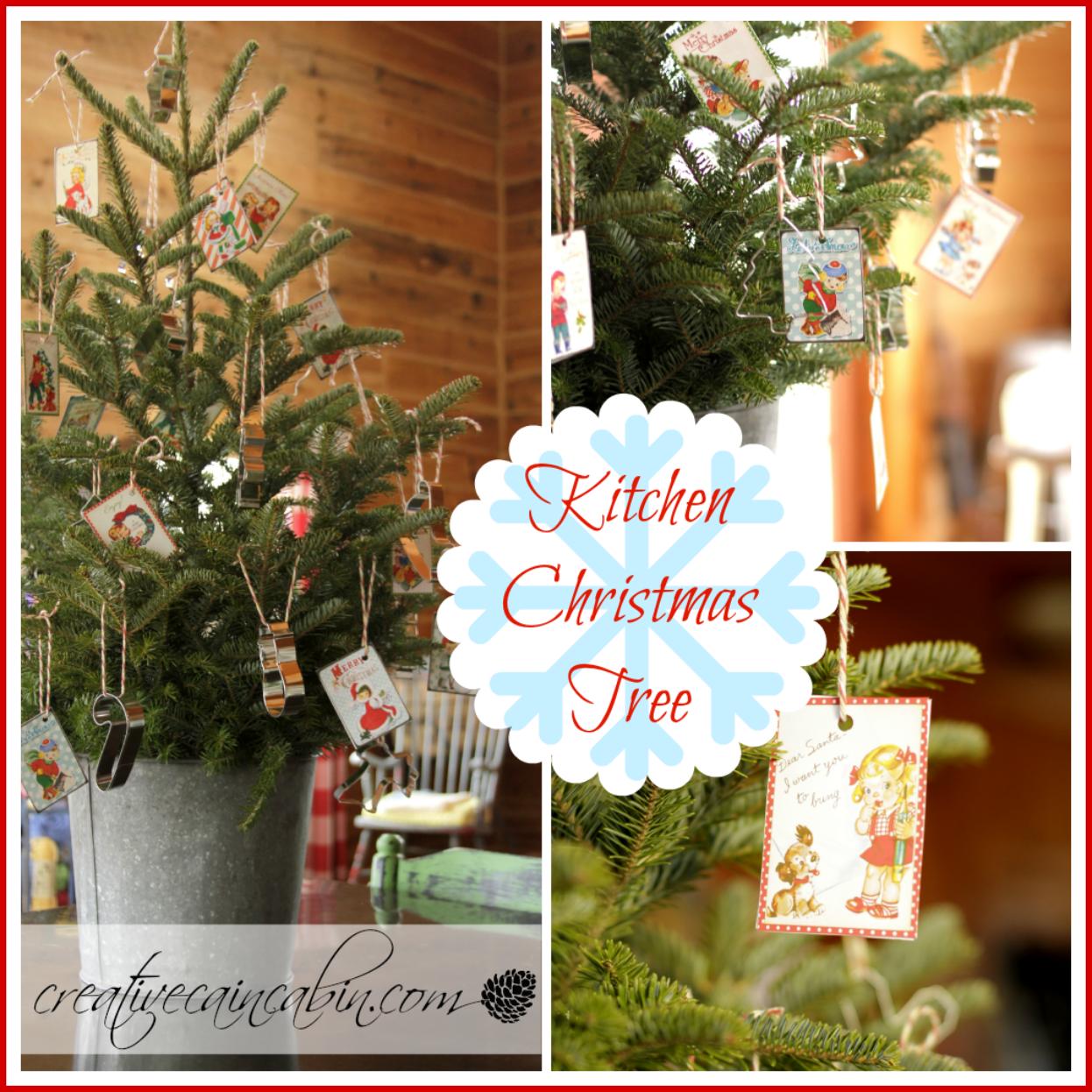 Kitchen Christmas Tree - CREATIVE CAIN CABIN