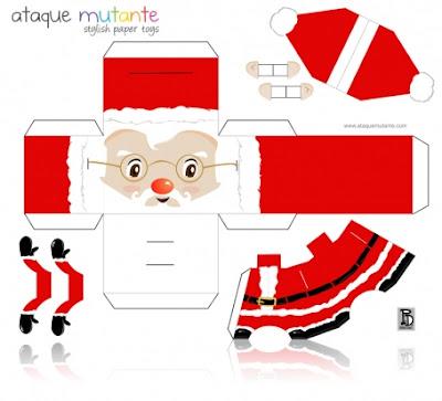 Vários papertoys papercrafts natalinos para baixar e montar