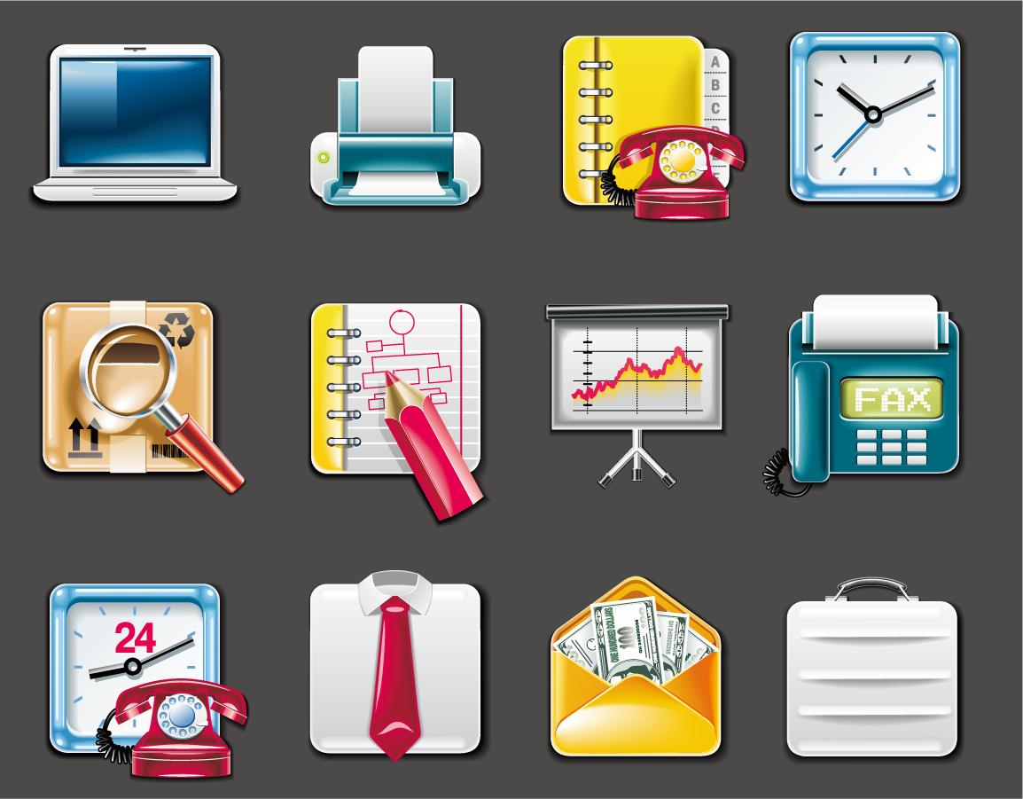 事務用品のアイコン デザイン office supplies icon イラスト素材