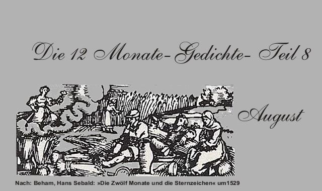 Gedichte und Zitate für alle: Die 12 Monate  Gedichte Monat August