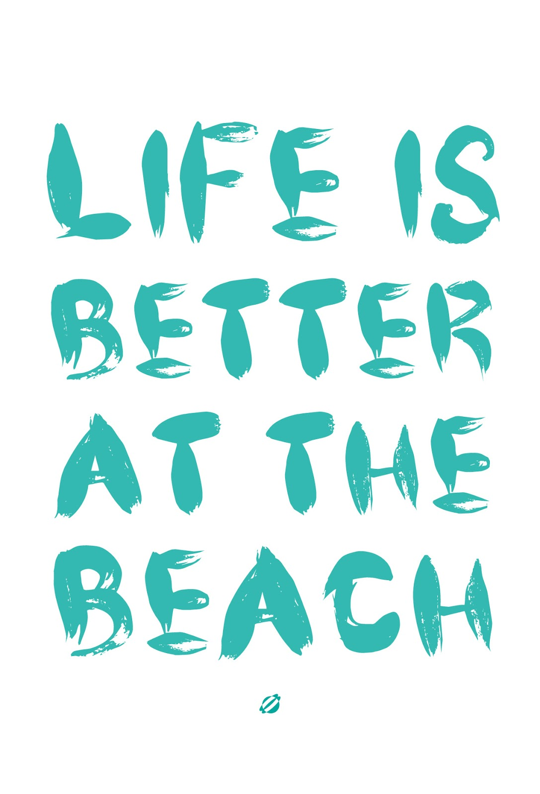 LostBumblebee ©2014 Life is Better at the Beach- Free Printable - personal use
