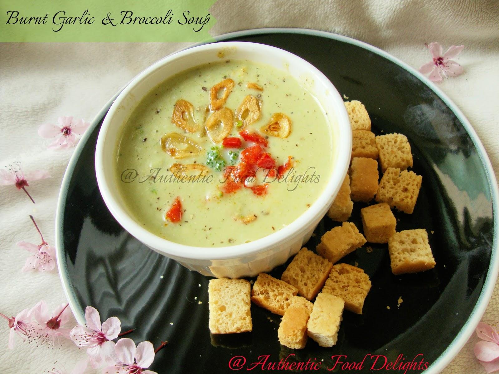 Authentic food delights burnt garlic and broccoli soup forumfinder Choice Image