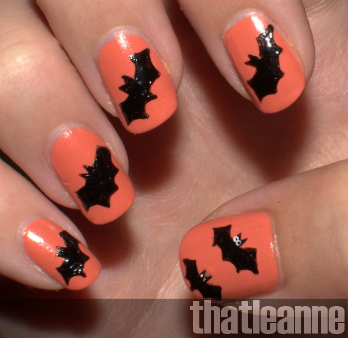 Thatleanne simple halloween nail art ideas monday october 10 2011 prinsesfo Image collections