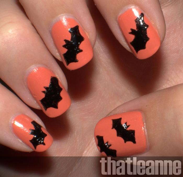 Thatleanne simple halloween nail art ideas solutioingenieria Image collections