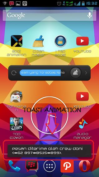 Cara Merubah Efek Pemberitahuan Pesan (Toast Animation) Di Android