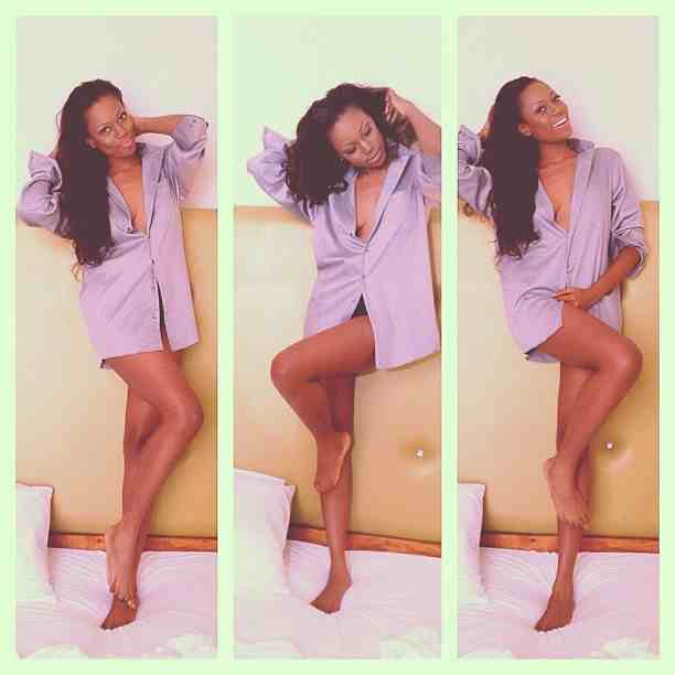 Nadia Buari Competes With Yvonne Nelson In  Boyfriend Shirt Yvonne Nelson Boyfriend