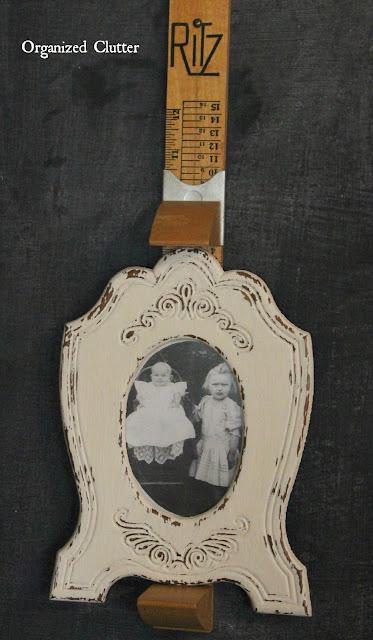 Ritz Foot Scale Repurposed Photo Frame Holder www.organizedclutter.net