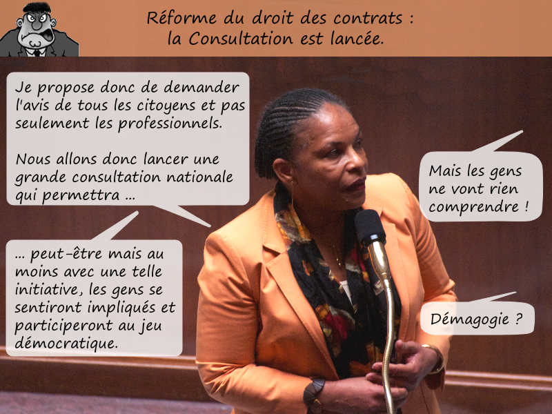 Consultation publique sur la réforme du droit des contrats