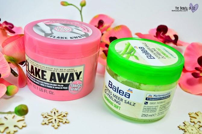 Beauty Battle Körperpeeling Soap & Glory FLAKE AWAY vs Balea TOTES MEER SALZ ÖL-PEELING