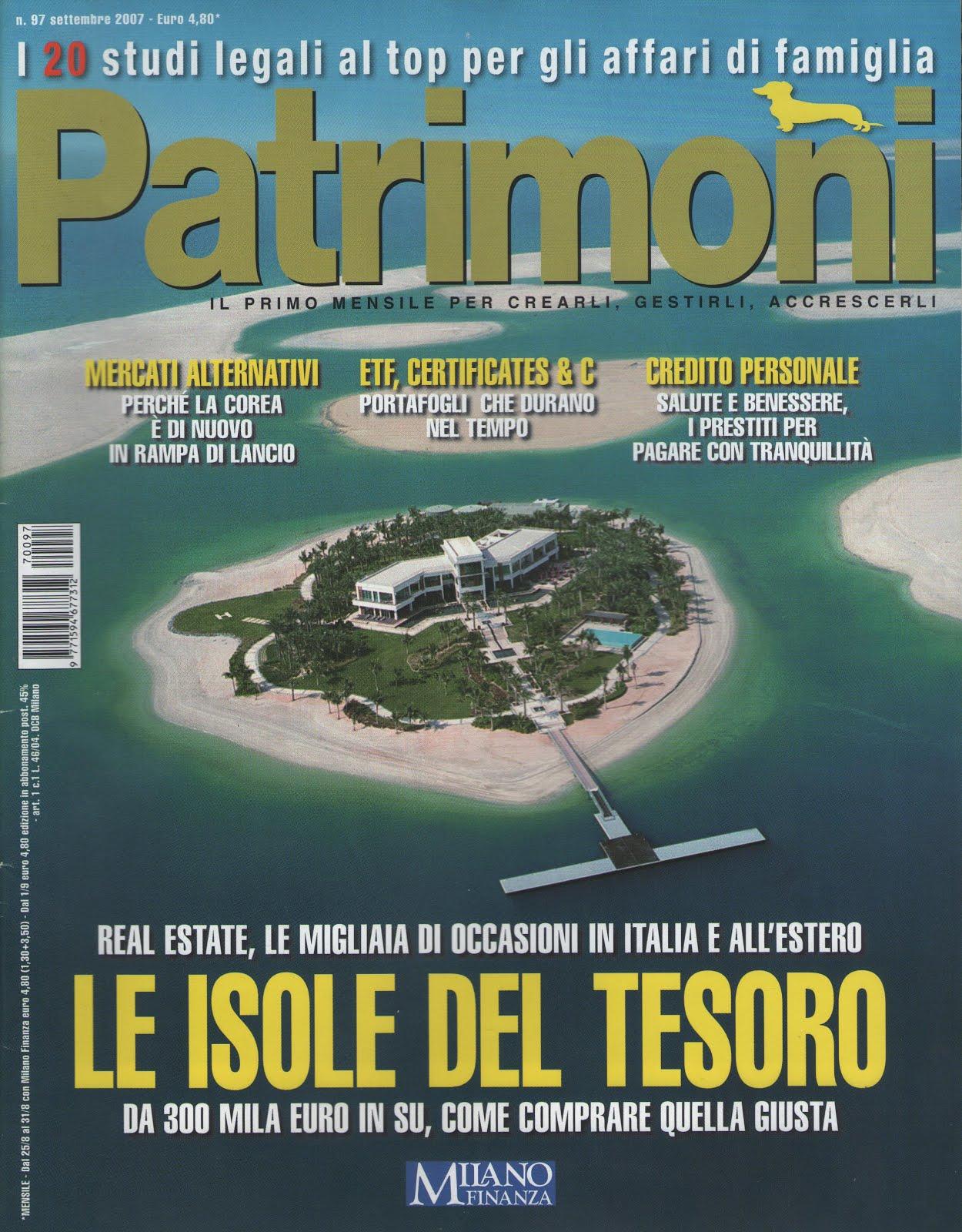 Mensile Patrimoni di settembre 2007