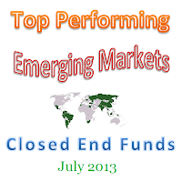 Best Performing Emerging Markets CEFs July 2013