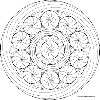 Peppermint Mandala to Color