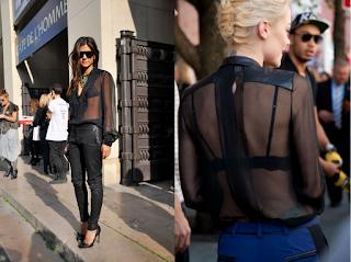 blusa transparente negra