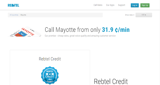 cheap calls to Mayotte by Rebtel