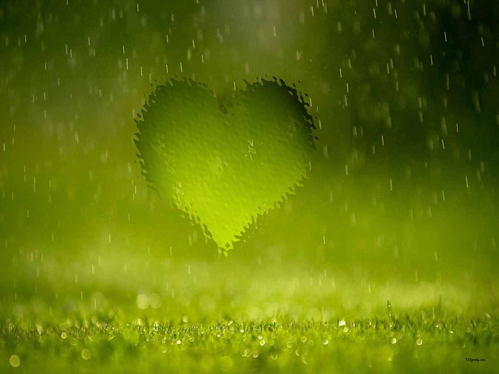 Heart Rainy Image