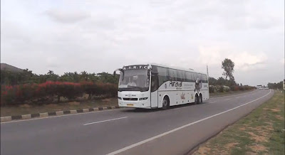 KSRTC Bus on the road