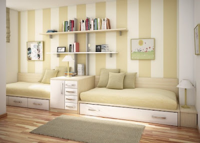 Cool Teen Cream Dorm Room